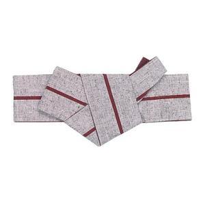 角帯 貝の口 軽装仕立 メンズ角帯 男物 ワンタッチ 半纏 帯 浴衣 着物 綿紬 一本縞 グレー エンジ nsd-4194|kameya