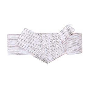 軽装仕立帯(幅9cm×胴回り95cmまで対応・男物/ポリエステル/白・雨縞) あらかじめ貝の口に結んだ男角帯 着物 浴衣 半纏用男帯 [nsd-4196] kameya