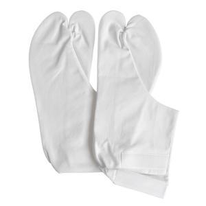 皮底足袋(マジックテープ式・白) 舞踊足袋 踊り足袋 武道家足袋 着物 和装足袋 舞台 ステージ足袋|kameya