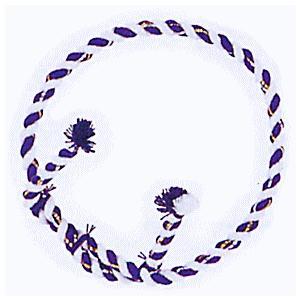 中太結上鉢巻(紫&白) 祭り鉢巻 よさこいソーラン踊り/太鼓演打用鉢巻 舞台/ステージ用小物|kameya