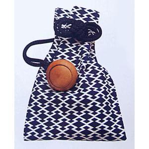 巾着 袋 バッグ ポーチ きんちゃく 祭り 巾着袋 松皮菱 濃紺|kameya