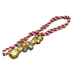金銀すずなり鈴(赤紐) お祭り鈴 鳴り物入り? 祭り用品 まつり小道具|kameya