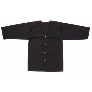 ダボシャツ 祭り メンズ レディース 鯉口シャツ 黒 混紡 真夏用 踊り 祭り用品|kameya