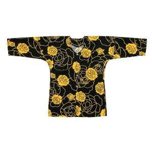 鯉口シャツ 祭り ダボシャツ メンズ レディース 黄バラ 鯉口シャツ 祭り用品|kameya