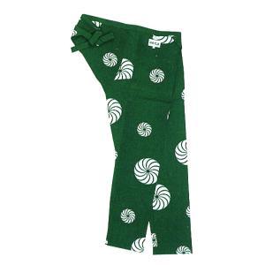 股引き 祭り ももひき 股引 祭パンツ パッチ 祭股引 メンズ レディース 緑 獅子毛|kameya