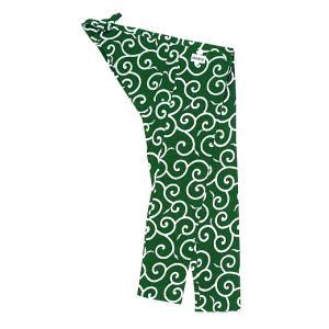 股引き 祭り ももひき 股引 祭パンツ パッチ 祭股引 メンズ レディース 浴衣地 緑 唐草|kameya