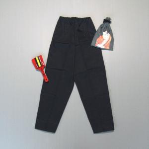 パンツ 祭り 長ズボン 子供用 ゴムパンツ 祭パンツ 子ども 黒 朱子 木綿 踊り 祭り用品|kameya