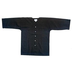子供用祭り本ダボシャツ(黒) お子様用まつりインナーウエア 神社 神輿 山車 市民祭り用単色キッズシャツ|kameya