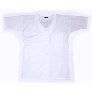 鯉口シャツ 祭り ダボシャツ メンズ レディース 半袖 真夏用 白 祭り用品 鯉口シャツ|kameya