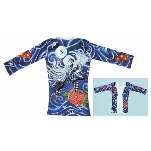 刺青シャツ 入れ墨 シャツ 祭り タトゥー Tシャツ 肉襦袢 纏持ち 祭り用品 長袖|kameya