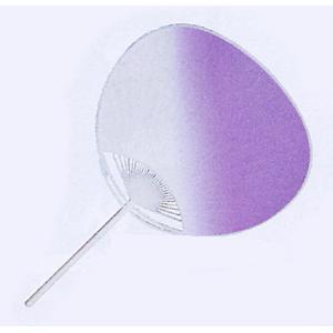 ぼかしうちわ(全長36cm×幅24cm・紫) 祭り/盆踊り/イベント用団扇 祭小物 まつり用品|kameya