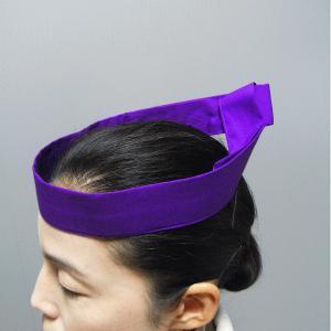 鉢巻 祭り はちまき 祭鉢巻 太鼓 よさこい 踊り 祭り用品 カラー くわがた鉢巻 紫|kameya