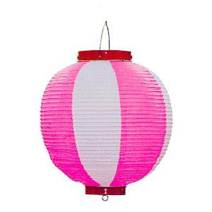 ビニール提灯10個セット(丸型・ピンク) ご希望で名入れ可能 祭り提灯 盆踊り/イベント/花火大会用ちょうちん 祭用品|kameya