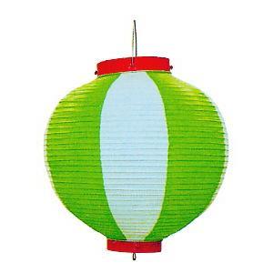 ビニール提灯10個セット(丸型・グリーン) ご希望で名入れ可能 祭り提灯 盆踊り/イベント/花火大会用ちょうちん 祭用品|kameya