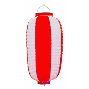 ビニール提灯10個セット(長型・赤) ご希望で名入れ可能 祭り提灯 盆踊り/イベント/花火大会用ちょうちん 祭用品|kameya
