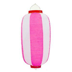 ビニール提灯10個セット(長型・ピンク) ご希望で名入れ可能 祭り提灯 盆踊り/イベント/花火大会用ちょうちん 祭用品|kameya