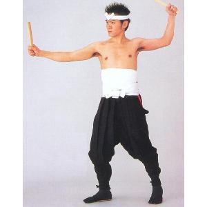 太鼓用たっつけ袴(黒) 太鼓演奏 舞台ステージ 奉納和太鼓 祭り踊り用たっつけ袴 伊賀はかま|kameya