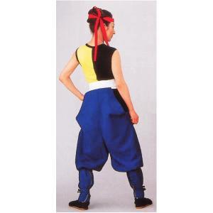 たっつけ袴 太鼓用 はかま メンズ レディース 伊賀袴 太鼓 祭り 踊り たっつけ袴 ブルー|kameya