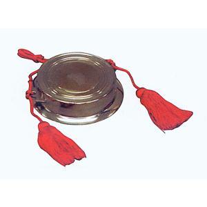 当り鉦 大 房付 祭り楽器 鳴り物 まつり用品 お囃子 舞台 ステージ用小道具|kameya