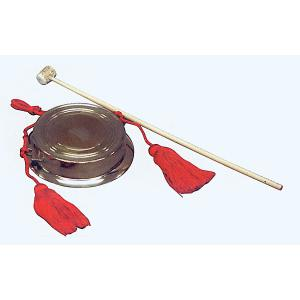 当り鉦(大/房・撞木付) 祭り楽器 鳴り物 まつり用品 お囃子/舞台/ステージ用小道具|kameya