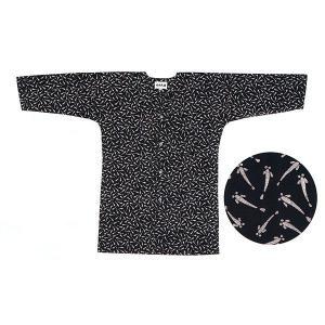 鯉口シャツ 祭り ダボシャツ メンズ レディース 小紋 本染め 紺 めだか 祭り用品 鯉口シャツ|kameya