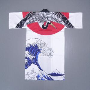 半纏 長 法被 はっぴ メンズ レディース 袢天 よさこい 踊り 祭り 半纏 半天 飛鶴|kameya