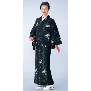 二部式着物(袷仕立上り/枝垂桜) 活動的なセパレート式着物 2部式和装上下 カジュアル和服 旅館 和食店用制服 おもてなし和装|kameya