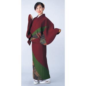 二部式着物(袷仕立上り/パッチワーク・唐草) 活動的なセパレート式着物 2部式和装上下 カジュアル和服 旅館 和食店用制服 おもてなし和装|kameya
