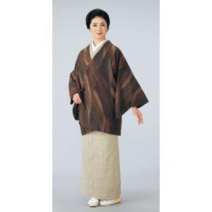 道中着 小紋 レディース 流水 リバーシブル 着物コート 和装コート 洗える着物|kameya