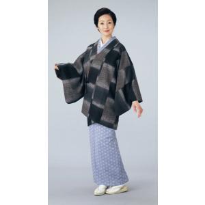 道中着 小紋 レディース ぼかし リバーシブル 着物コート 和装コート 洗える着物|kameya