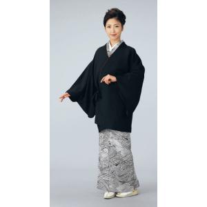 道中着 リバーシブル レディース 黒 エンジ 着物コート 和装コート 洗える着物|kameya