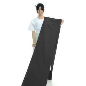黒無地 着物 反物 ちりめん 踊り 茶道 日本製 オリジナル 色無地 洗える着物 ブラック nmd-7052|kameya