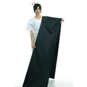 色無地 着物 反物 キング幅 紗綾型 踊り 舞台 日本製 きらめき 色無地 洗える着物 黒 zm-d-134|kameya