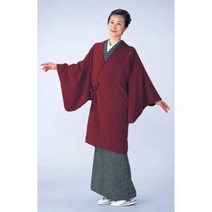 ロングコート 道中着 レディース エンジ 着物コート 和装コート 洗える着物|kameya