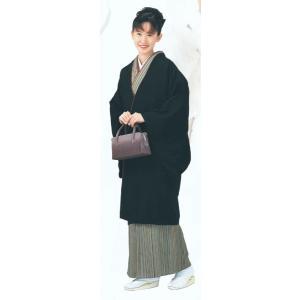 ロングコート 道中着 レディース 黒 着物コート 和装コート 洗える着物|kameya