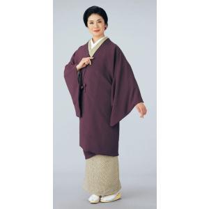 ロングコート 道中着 レディース 江戸紫 着物コート 和装コート 洗える着物|kameya