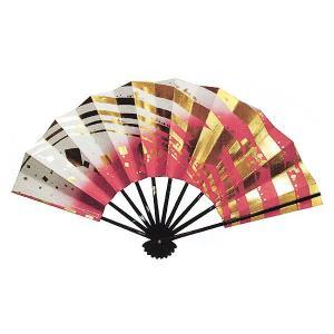舞扇子(長さ29cm・金箔/薔薇色・白ボカシ) 日本舞踊扇子 踊り扇子 踊り小道具 舞扇 化粧箱付き舞踊扇|kameya