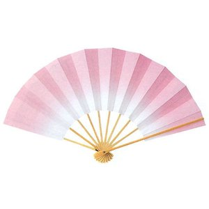 ボカシ舞扇子(長さ29cm・楚々としたピンク) 日本舞踊扇子 踊り扇子 踊り小道具 舞扇 化粧箱付き舞踊扇|kameya
