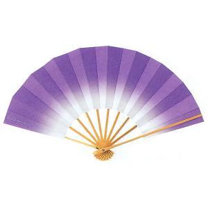 ボカシ舞扇子(長さ29cm・個性的なアヤメ色) 日本舞踊扇子 踊り扇子 踊り小道具 舞扇 化粧箱付き舞踊扇|kameya