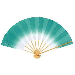 ボカシ舞扇子(長さ29cm・涼やかなあさぎ色) 日本舞踊扇子 踊り扇子 踊り小道具 舞扇 化粧箱付き舞踊扇|kameya