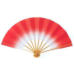ボカシ舞扇子(長さ29cm・情熱の緋色) 日本舞踊扇子 踊り扇子 踊り小道具 舞扇 化粧箱付き舞踊扇|kameya