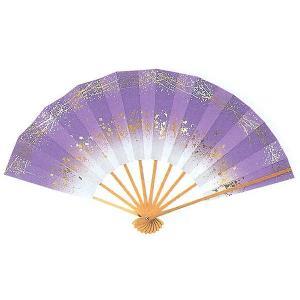 舞扇子(長さ29cm・金吹雪/アヤメぼかし) 日本舞踊扇子 踊り扇子 踊り小道具 舞扇 化粧箱付き舞踊扇|kameya