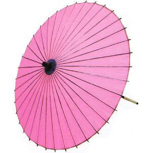 紙舞傘(直径76cm×柄の長さ78cm・お稽古用・ピンク) 廉価舞踊傘 踊り傘 舞台用舞傘 ステージ用紙傘 日舞・歌舞伎用傘 舞踊小道具 和傘 [kz]|kameya