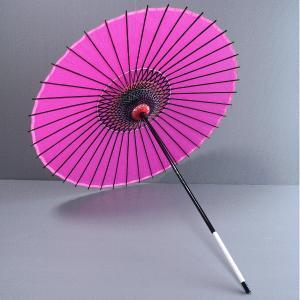 舞踊傘 踊り傘 絹傘 絹舞傘 番傘 歌舞伎 日本舞踊 踊り 小道具 舞傘 和傘 ピンク|kameya