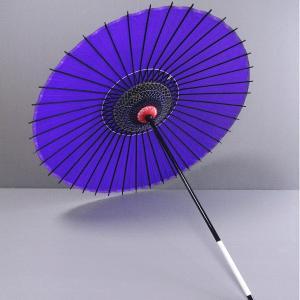 舞踊傘 踊り傘 絹傘 絹舞傘 番傘 歌舞伎 日本舞踊 踊り 小道具 舞傘 和傘 紫|kameya