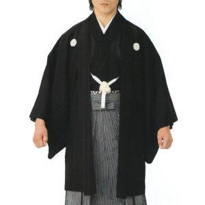 羽織 はおり 男物 メンズ 駒絽 紋付 夏物 結婚式 成人式 葬儀 フォーマル羽織 日本製 黒|kameya