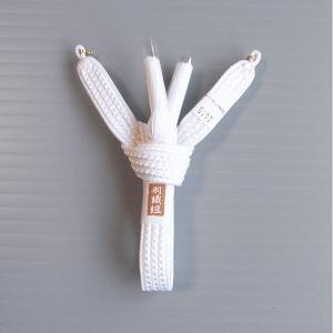 羽織紐 男性 男物 メンズ 紳士用 成人式 結婚式 フォーマル 羽織紐 白 平結び|kameya