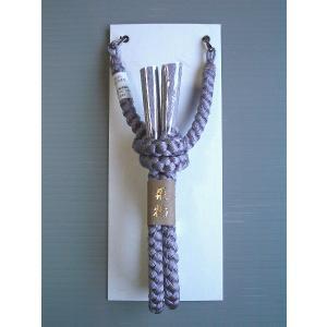 男物正絹羽織紐(グレー・丸組み) 男のおしゃれ羽織紐 パーティー・普段着用のセミフォーマル〜カジュアル羽織紐 (kz)|kameya