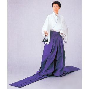 長袴(馬乗り型・紐下210cm・紫) 張袴 十二単 女房装束 歌舞伎 能狂言 伝統芸能の舞台舞踊袴 高品位日本製 踊り袴|kameya