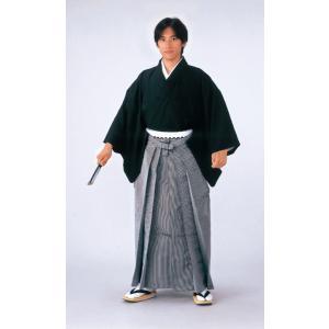 シルック縞袴(馬乗り型・変り縞・グレー・黒) 式典 成人式のはかま 日舞 詩吟 能楽の舞台 舞踊袴 高品位日本製 踊り袴|kameya